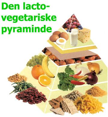 Lacto-vegetarisk madpyramide