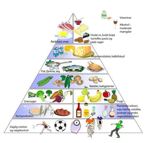 Sundheds- og madpyramide fra 2009