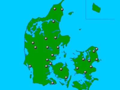 Danmarks 25 største byer
