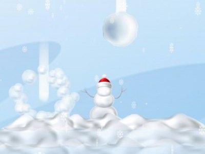 Beskyt Snemanden Mod De Faldende Snebolde - Sjovt Julespil