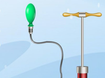 Pust Baloner Op Med Pumpe - Sjovt Julespil