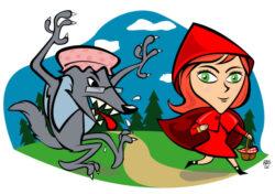 Den lille rødhætte og ulven - Brødrene Grimms eventyr