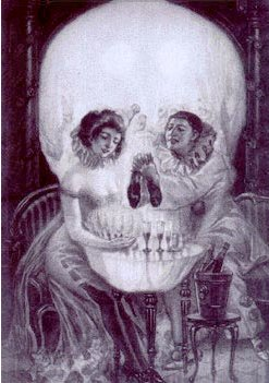 Illusioner - kranium eller kærestepar?