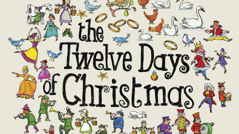 Twelve Days of Christmas - tekst og melodi